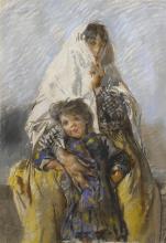 Mosè Bianchi, Madre chioggiotta