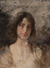 Mosè Bianchi, Mezza figura di donna