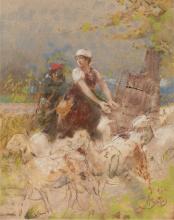 Mosè  Bianchi, Pastorella e il suo gregge