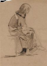 Mosè Bianchi, Religioso seduto