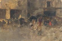 Mosè Bianchi, Ricordo di Venezia. Studio