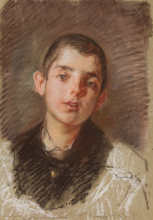 Mosè Bianchi, Ritratto di giovane uomo