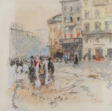Mosè Bianchi, Scena di strada