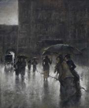 Mosè Bianchi, Scena di strada sotto la pioggia