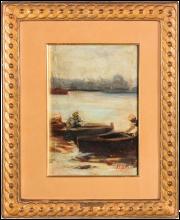 Mosè Bianchi, Studio di barche a Chioggia
