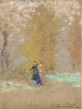 Mosè Bianchi, Studio di paesaggio