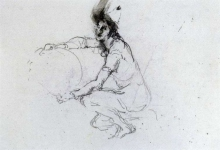 Mosè Bianchi, Studio per saltimbanchi