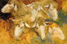 Mosè Bianchi, Studio per teste di pecora