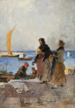 Mosè Bianchi, Sul molo di Chioggia