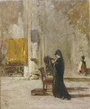 Mosè Bianchi, Una signora che prega in chiesa