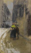 Mosè Bianchi, Una via di Milano