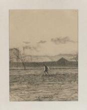 Umberto Boccioni, Campagna con contadino al lavoro