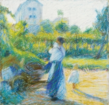 Umberto Boccioni, Donna in giardino