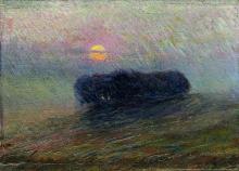 Umberto Boccioni, Paesaggio al tramonto