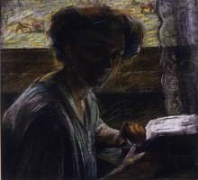 Umberto Boccioni, Ritratto della sorella che legge