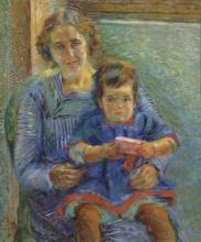 Umberto Boccioni, Ritratto di Betty e Nora Baer