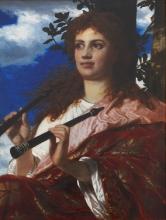 Arnold Boecklin, La musa di Anacreonte | Die Muse des Anakreon