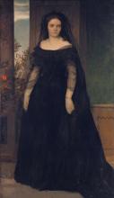 Boecklin, Ritratto dell'attrice Fanny Janauschek | Bildnis der Schauspielerin Fanny Janauschek | Portrait of the actress Fanny Janauschek