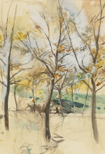 Boldini, Alberi nel Bois de Boulogne| Arbres dans le Bois de Boulogne | Trees in the Bois de Boulogne