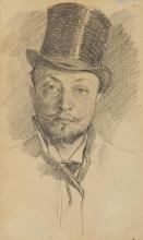 Giovanni Boldini, Autoritratto con cappello, a mezzo busto
