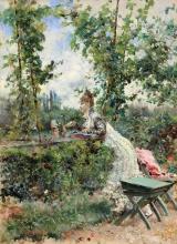 Boldini, Berthe in giardino