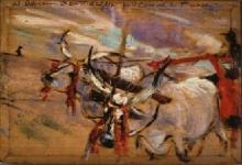 Giovanni Boldini, Bovi al carro [verso]