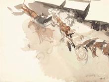 Giovanni Boldini, Carrozze trainate da cavalli viste dall'alto [recto]