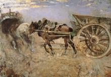 Giovanni Boldini, Cavalli al tombarello