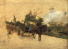 Boldini, Cavallo con carro da fieno.jpg