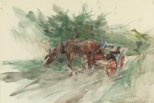 Giovanni Boldini, Cavallo e calesse