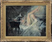 Giovanni Boldini, Donna che legge a letto