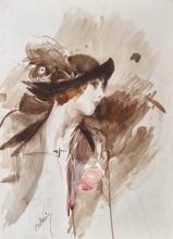 Giovanni Boldini, Donna con cappello