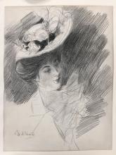 Giovanni Boldini, Donna elegante con cappello, ritratto presunto della signora de Joss de Couchy