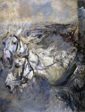Boldini, Due cavalli bianchi.png