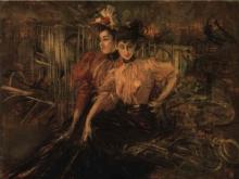 Boldini, Due ragazze sedute su una panchina.jpg