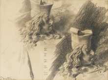 Boldini, Due studi dal 'Busto del cardinale de' Medici' del Bernini.jpg