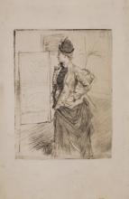 Boldini, Giovane donna in piedi di profilo (La visita).jpg