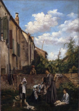 Boldini, Il cortile della casa paterna.png