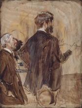 Giovanni Boldini, Intenditori nello studio dell'artista