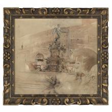Boldini, La fontana del Nettuno a Bologna [cornice].jpg