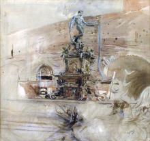 Boldini, La fontana del Nettuno a Bologna.png