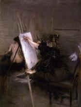 Boldini, La pittrice Ruth Sterling nel suo studio.jpg
