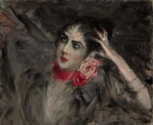 Giovanni Boldini, La principessa Radziwill con un nastro rosso intorno al collo