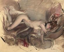 Giovanni Boldini, Nudo di donna | Jeune fille nue | Naked girl