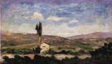 Giovanni Boldini, Paesaggio con albero e casa
