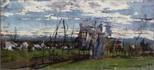 Giovanni Boldini, Paesaggio con filare di canne