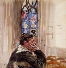 Boldini, Ritratto d'uomo in chiesa.jpg