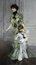 Giovanni Boldini, Ritratto della signora Hugo e suo figlio