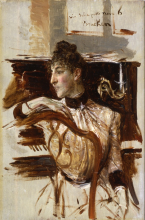 Giovanni Boldini, Ritratto di Alaide Banti al pianoforte
