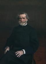 Boldini, Ritratto di Giuseppe Verdi seduto | Portrait de Giuseppe Verdi assis | Portrait of Giuseppe Verdi sitting